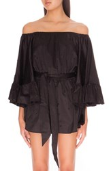 C Meo Collective Women's C Meo 'Star Eyes' Off The Shoulder Cotton Romper