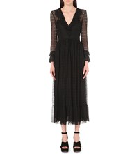 Philosophy Pleated Lace Dress Black