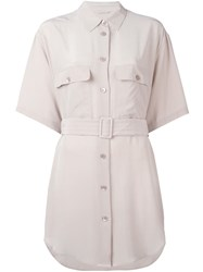 Equipment 'Matteo' Shirt Dress Pink And Purple
