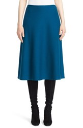 St. John Women's Collection Lattice Pique Knit A Line Skirt Tanzanite