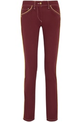 Isabel Marant Marso Mid Rise Skinny Jeans Red