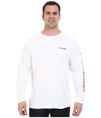 Columbia Terminal Tackle L S Shirt Extended White Stars And Stripes Logo Men's Long Sleeve Pullover