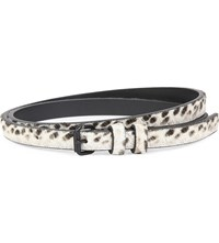 Haider Ackermann Chilton Ponyskin Belt Black White