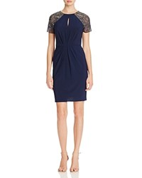 Js Collections Bead Embellished Dress Navy