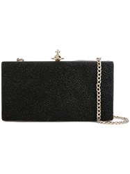 Vivienne Westwood Glitter Effect Cross Body Bag Black