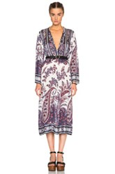 Etoile Isabel Marant Isabel Marant Etoile Tilda Paisley Print Dress In Blue Floral Purple Abstract