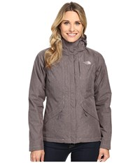 The North Face Inlux Insulated Jacket Quail Grey Heather Women's Jacket Pink