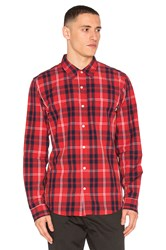 Stussy Penn Plaid Button Down Red