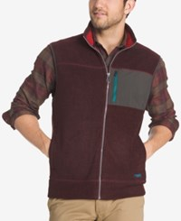 G.H. Bass And Co. Men's Zip Up Vest Winetasting Heather