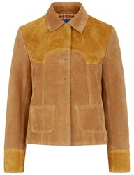 Mih Jeans Two Tone Suede Estero Jacket Yellow