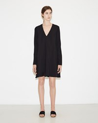 Proenza Schouler V Neck Flared Dress Black