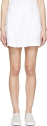 Public School White Assymetric Pleated Skirt