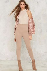 Perfect Strangers High Waisted Leggings Beige