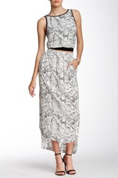 Tart Raziela Printed Skirt White