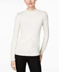 Charter Club Mock Turtleneck Sweater Only At Macy's Vintage Cream