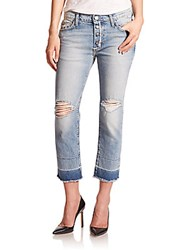Current Elliott The Distressed Fling Slim Fit Boyfriend Jeans Blue