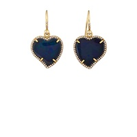 Irene Neuwirth Heart Shaped Drop Earrings
