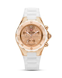 Michele Tahitian Mirrored Faces Jellybean Watch 39 Mm White Rose
