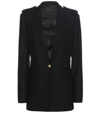 Rag And Bone Ashton Wool Blend Blazer Blue