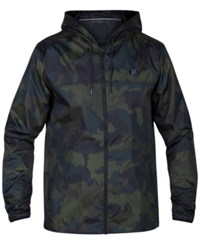 Hurley Men's Runner 2.0 Lightweight Jacket Camoflague