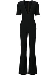 3X1 V Neck Jumpsuit Black