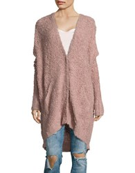 Free People Chunky Knit Oversized Cardigan Pink