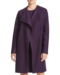 Elie Tahari Dez Stretch Wool Coat Aubergine