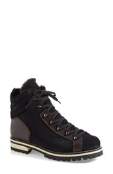 Aquatalia By Marvin K Women's Aquatalia 'Edwina' Weatherproof High Top Sneaker Black Espresso Leather