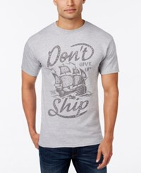 Club Room Men's Don't Give Up Graphic Print T Shirt Heather Gray