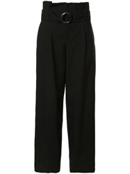 Le Ciel Bleu Belted High Waisted Trousers Black
