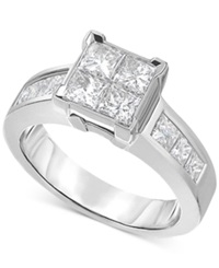 Prestige Unity Diamond Engagement Ring 2 Ct. T.W. In 14K White Gold No Color