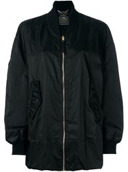 Muveil Oversized Bomber Jacket Black