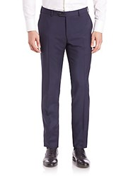 Pal Zileri Wool And Mohair Blend Dress Pants Navy