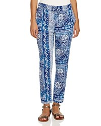 Surf Gypsy Printed Swim Cover Up Pants Blue