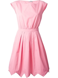 Moschino Cheap And Chic Belted A Line Dress Pink And Purple