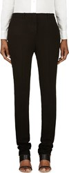 Nicolas Andreas Taralis Black Linen Classic Flat Front Trousers