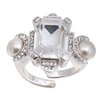 On Aura Tout Vu Ring Art Deco Crystal Moulin Rouge By Paris Silver