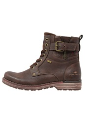 Tom Tailor Laceup Boots Rust Dark Brown