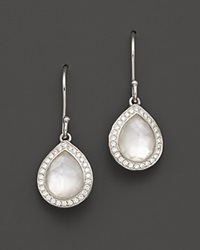 Ippolita Sterling Silver Stella Small Teardrop Earrings In Mother Of Pearl With Diamonds Multi