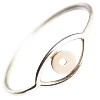 Stefanie Sheehan Jewelry Evil Eye Ring Silver And Gold