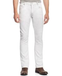 Inc International Concepts Faxon Slim Fit White Jeans Only At Macy's