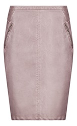 Sandwich Faux Leather Skirt Pink