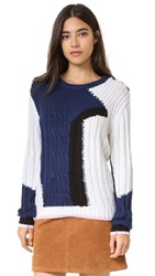 Rebecca Minkoff Prim Sweater Navy Multi