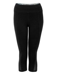 Green Lamb Soft Dri Crop Leggings Black