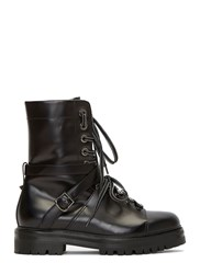 Valentino Lace Up Combat Boots Black