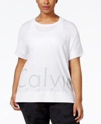 Calvin Klein Performance Plus Size Logo T Shirt White