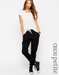 Asos Petite Lightweight Joggers With Contrast Tie Black