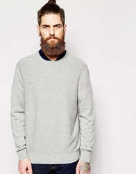 Timberland Jumper With V Insert Crew Neck Grey