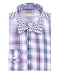 Michael Michael Kors Slim Fit Checked Dress Shirt Purple