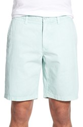 Men's 1901 'Thurston' Twill Shorts Teal Turquoise